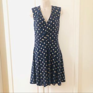 Navy & Gold Dress by Maeve from Anthropologie Sz M